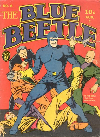 Cover for blue beetle 8 1987