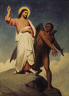 Ary Scheffer - The Temptation of Christ (1854)
