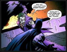 Batman's first fight against the Joker