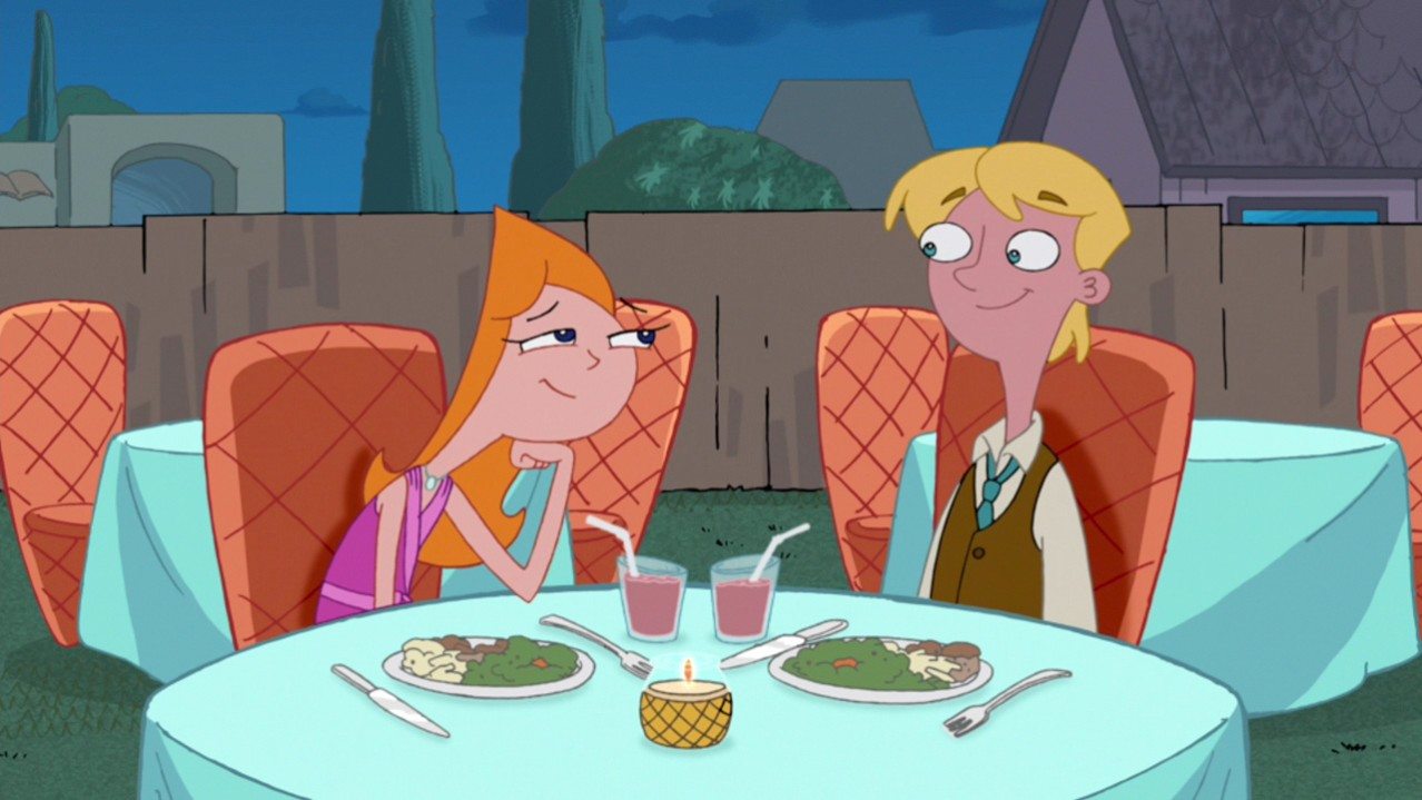 Image - Candace and Jeremy enjoying dinner.jpg - Phineas ...