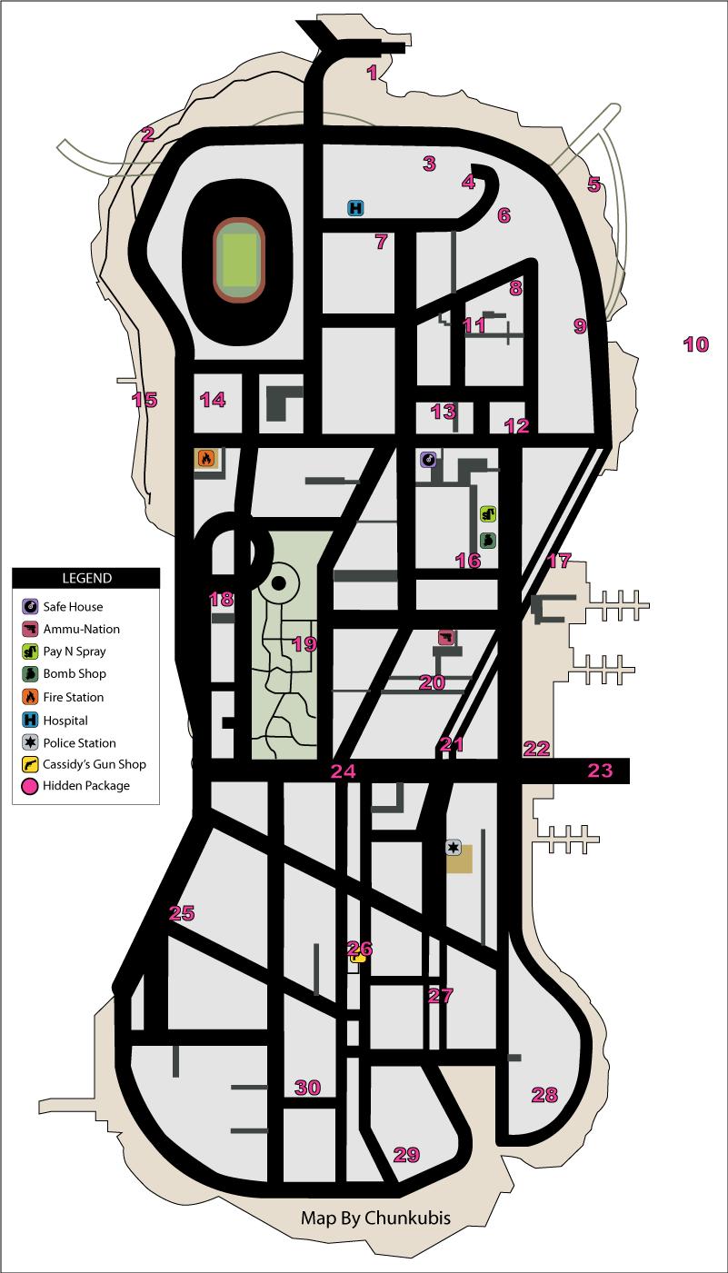 Gta  Ps Hidden Packages Map Staunton Island