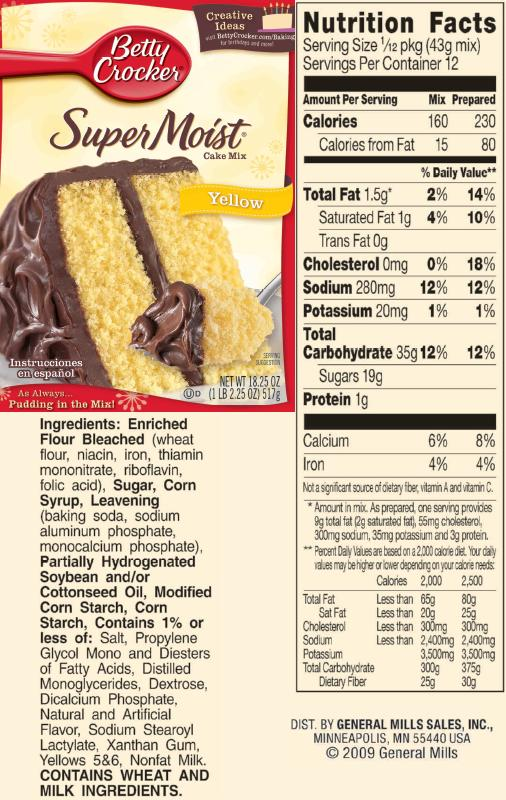 Egg Substitute In Yellow Cake Mix