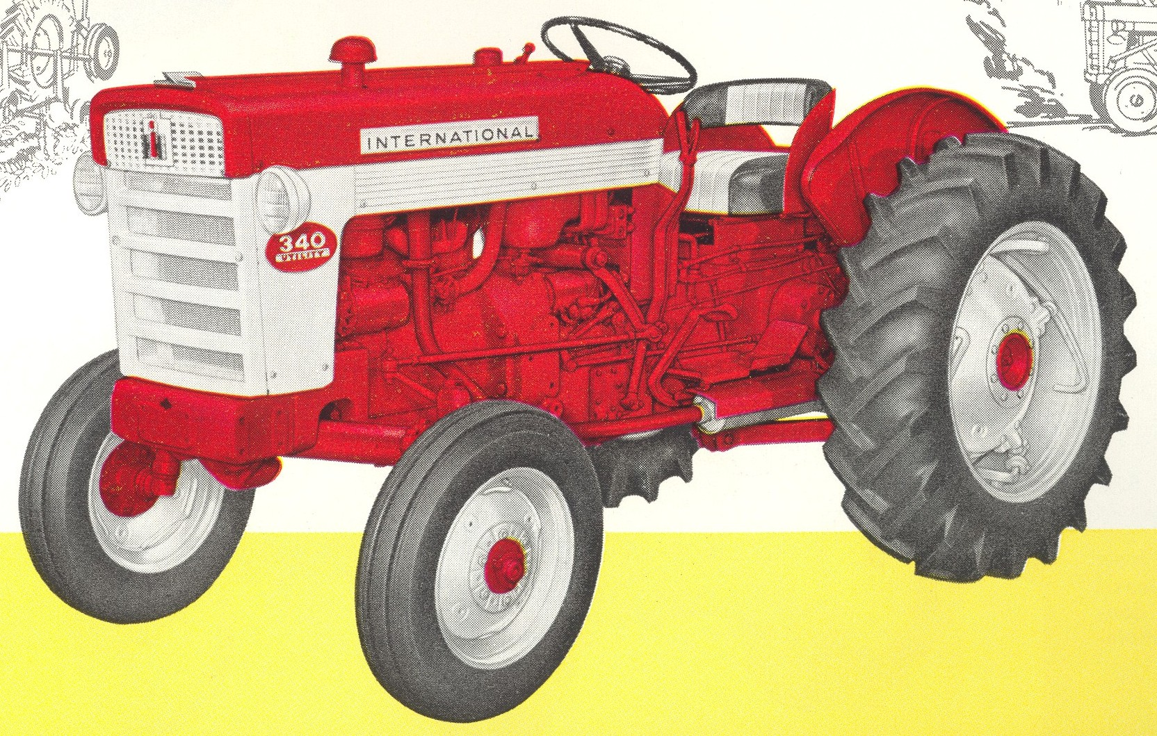 Ih 340 Utility Tractor Parts : International tractor construction plant wiki