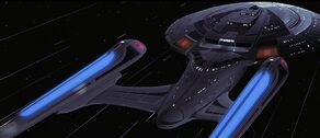 USS Enterprise-E at warp