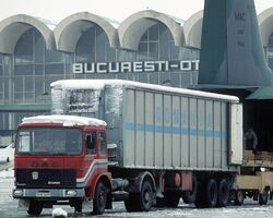 DAC 6Turbo truck, Bucharest Airport, 1989