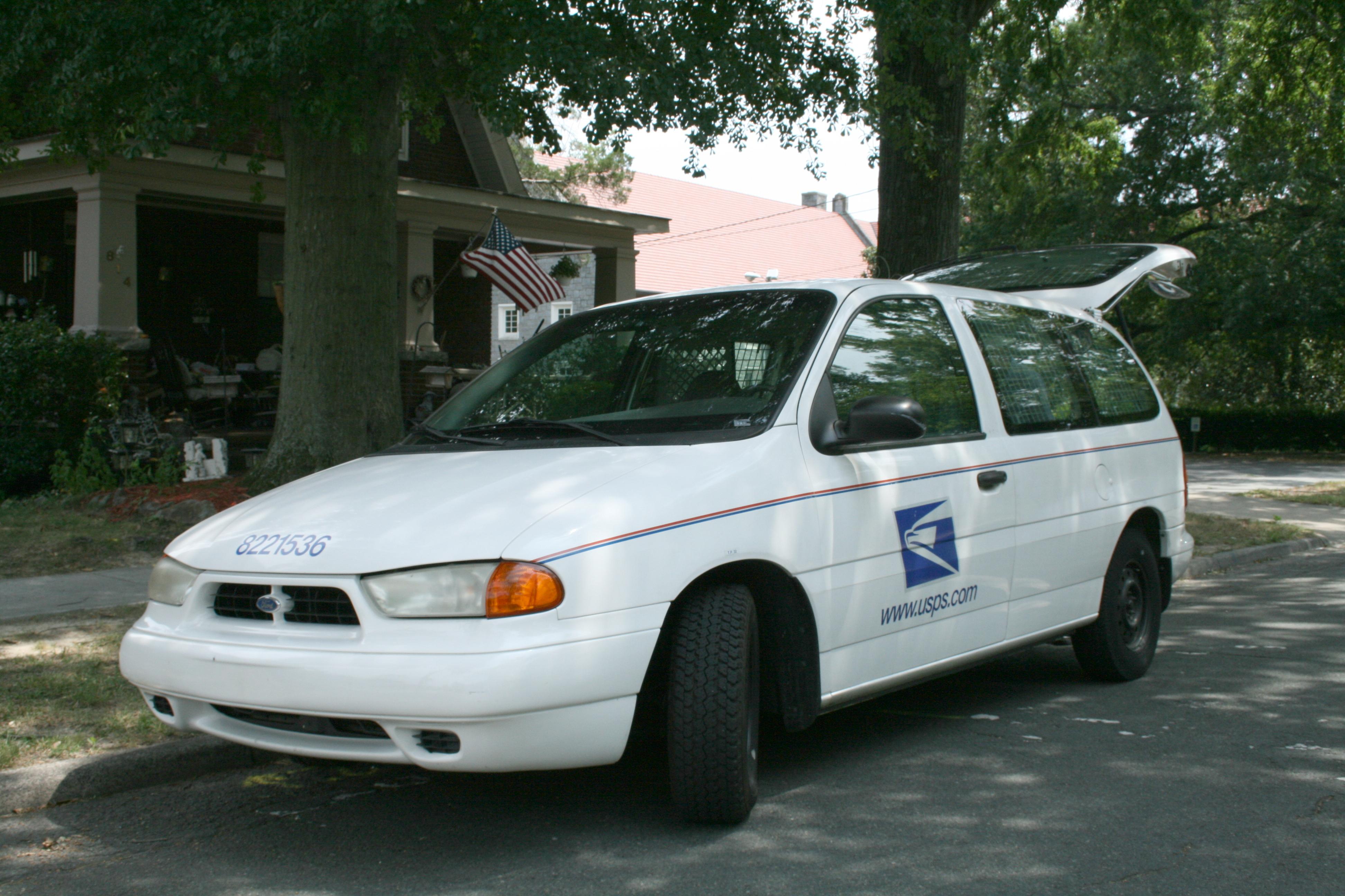 Postal Delivery Van In Durham