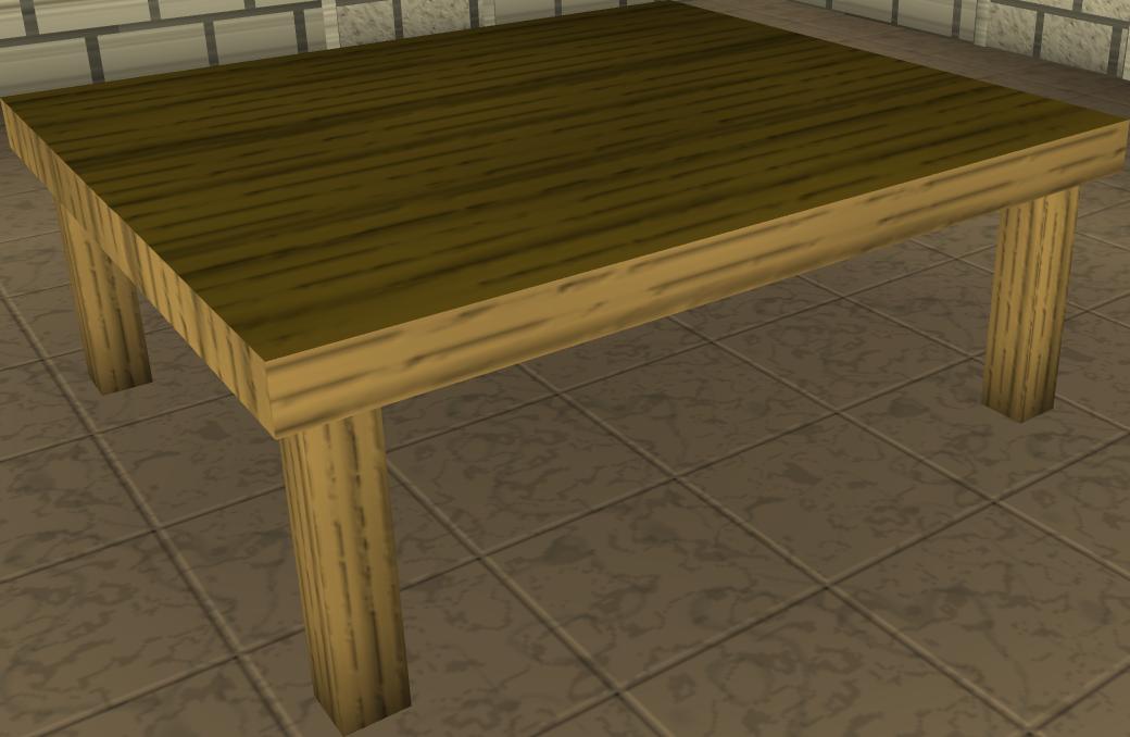 Wood kitchen table blueprints 3d