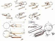 Early USS Enterprise design concepts by Matt Jefferies
