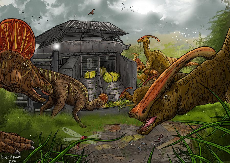 Jurassic park duck bills by pauloomarcio-d37yfdcJurassic Park Corythosaurus