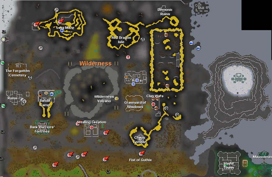 how to wildernes levels work osrs