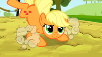 Applejack landing after a jump S2E14