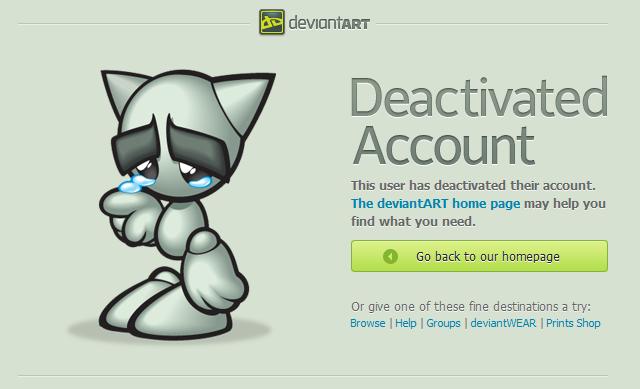 how to delete your deviantart account