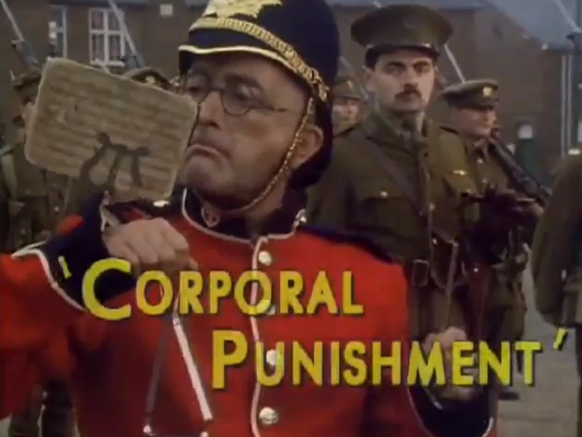 blackadder goes forth - corporal punishment essay Breaker morant is a 1980 australian war- and trial film directed by bruce beresford, who also co-wrote based on kenneth g ross' 1978 play of the same name.