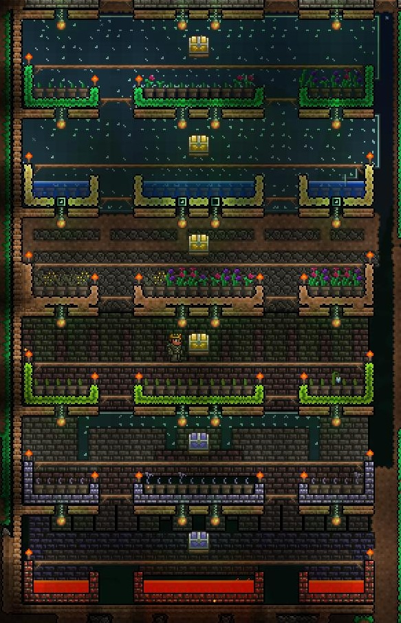 Example of a flower farm keep in mind that specific blocks below clay