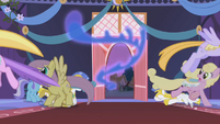 Ponies flee from Nightmare Moon S1E02
