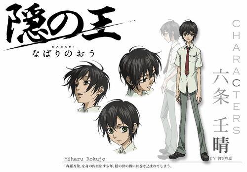 Miharu Rokujou - Nabari No Ou Wiki Nabari No Ou Raimei And Kouichi