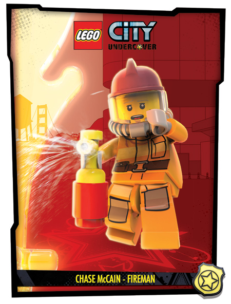 Chase McCain  Fireman Lego City Undercover Chase Mccain Civilian