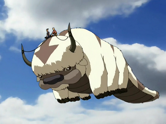 Avatar the Last Airbender Appa Flying