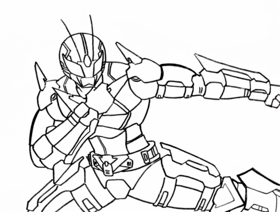kamen rider coloring pages - photo#17