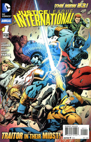 Cover for Justice League International #1 (2012)