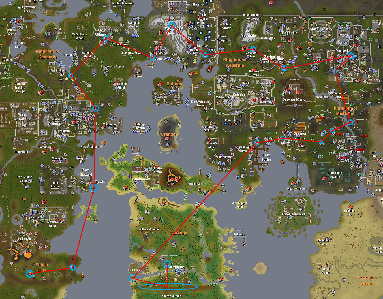 The Small Path You Have To Make During The Quest Be Aware That You Runescape  Map