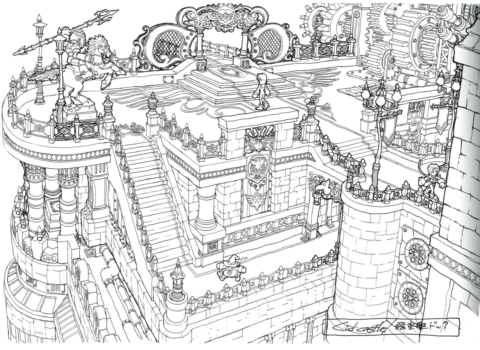 1000 images about 00 sketch environments 2d on for Final fortress blueprints