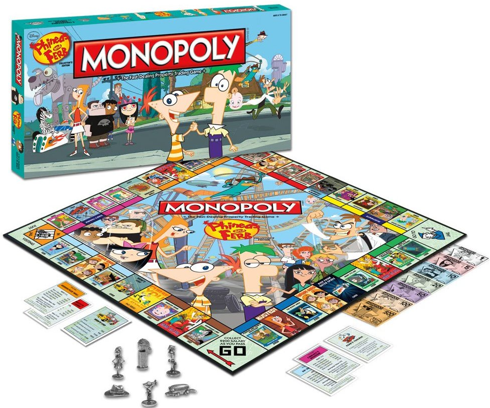 Phineas And Ferb Monopoly Disney Wiki