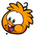Orange Puffle Pin