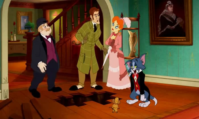 tom and jerry meet sherlock holmes bumbershoot umbrella
