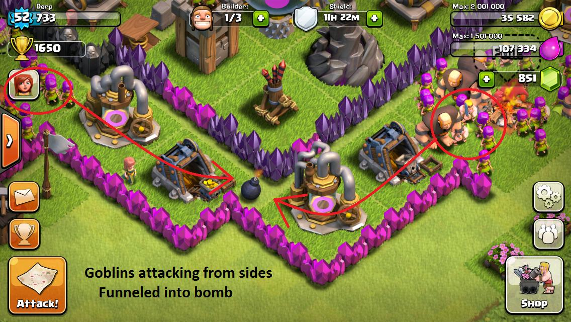 Clash of clans town hall level 7 funnel defense replays how to make