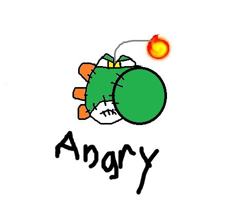 Yoshi Angry Image - Angry yoshi do...