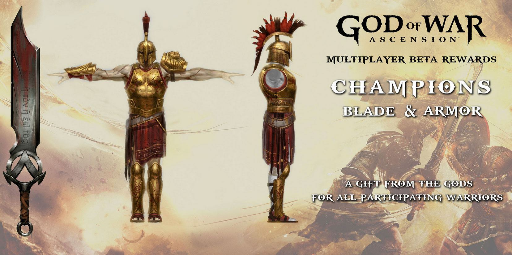 Champion's Blade and Armour - God of War Wiki - Ascension ...