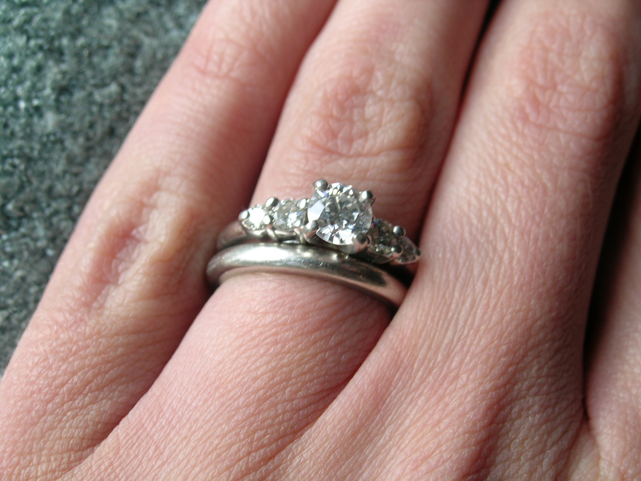 Woman S Hand Showing Both Wedding And Engagement Rings | in italy ...