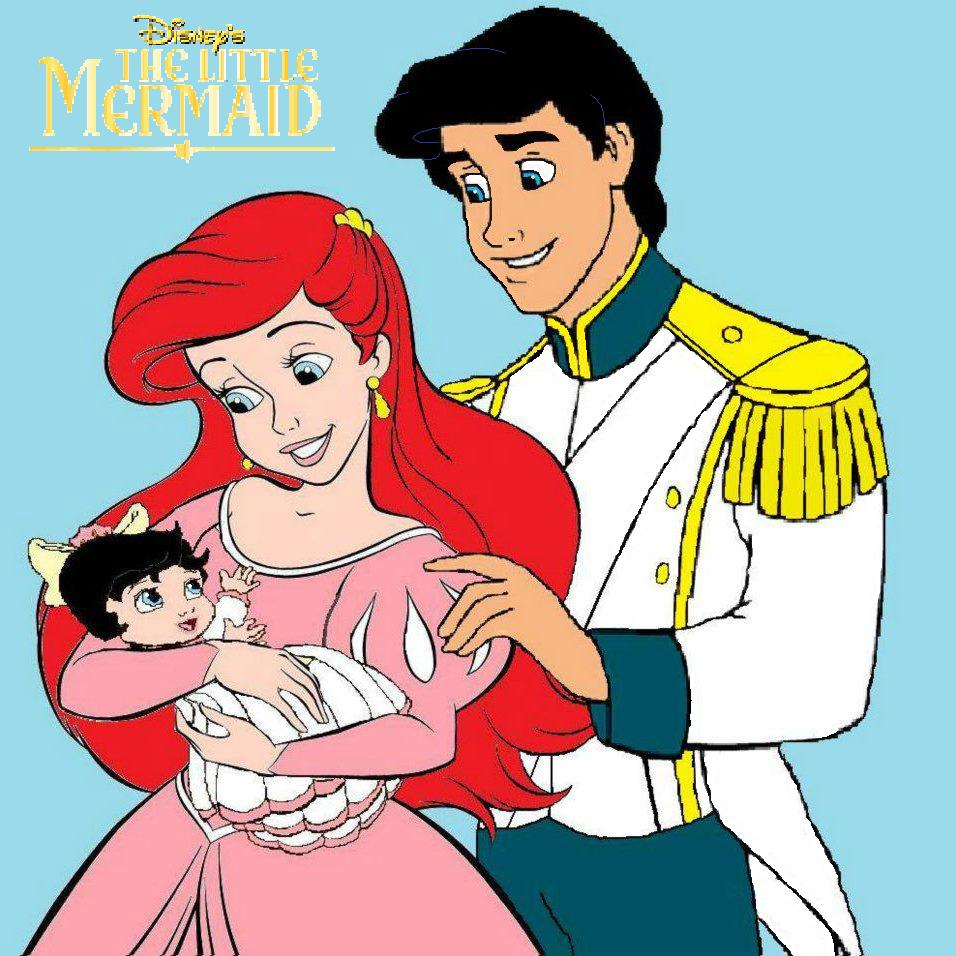 Image - Ariel eric and baby melody.jpg - The Little Mermaid