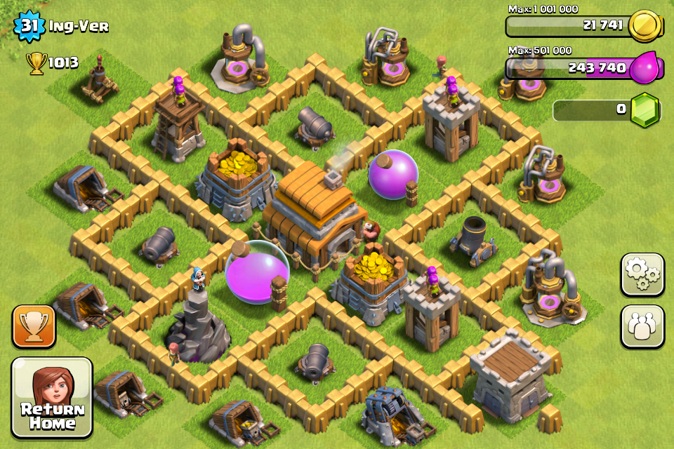 town hall 5 non farming base