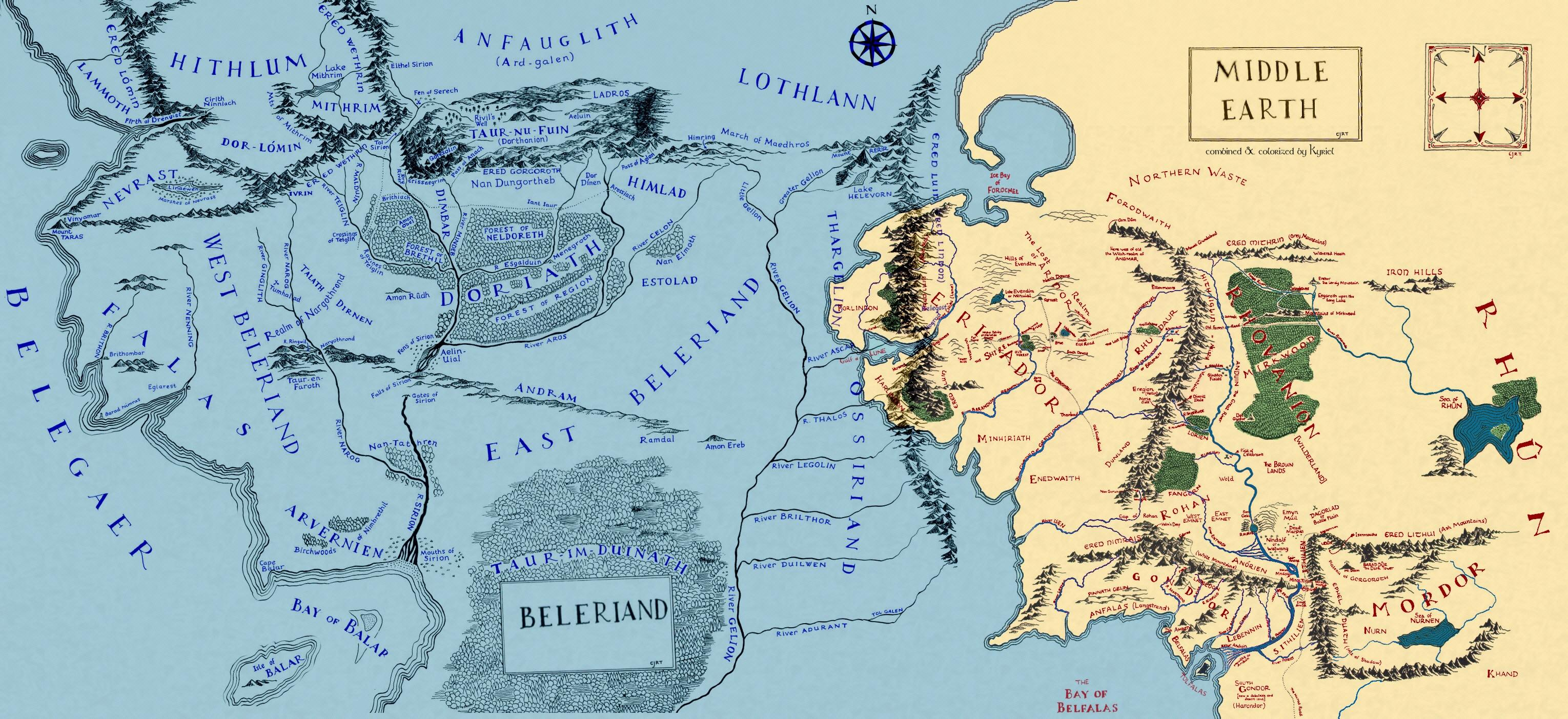 Did Maps In Middle Earth Have West: Did All The Land North Of Middle-Earth Sink?
