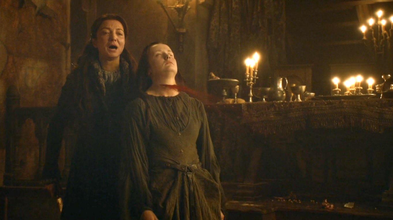 Catelyn kills JoyeuseGame Of Thrones Catelyn Zombie
