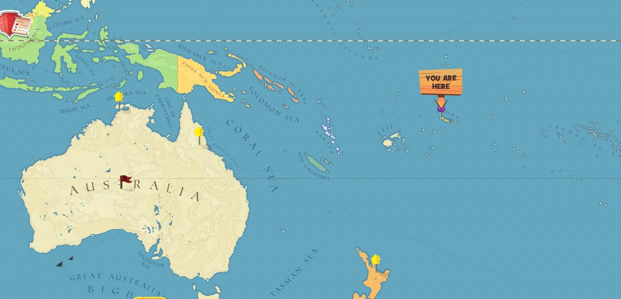 Western Samoa World Map