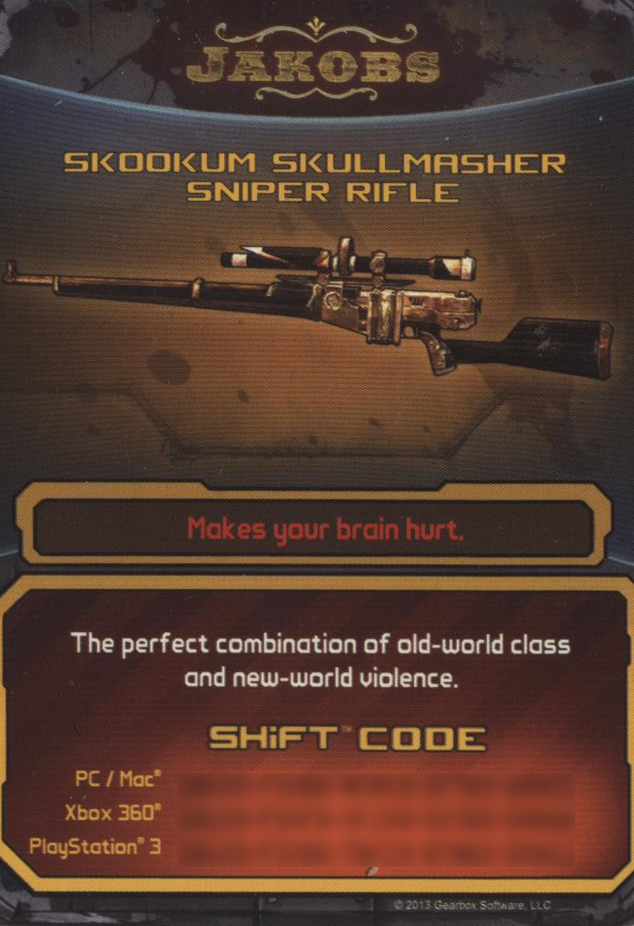 Skullmasher (Borderlands 2) - Borderlands Wiki ... Borderlands 2 Shift Codes
