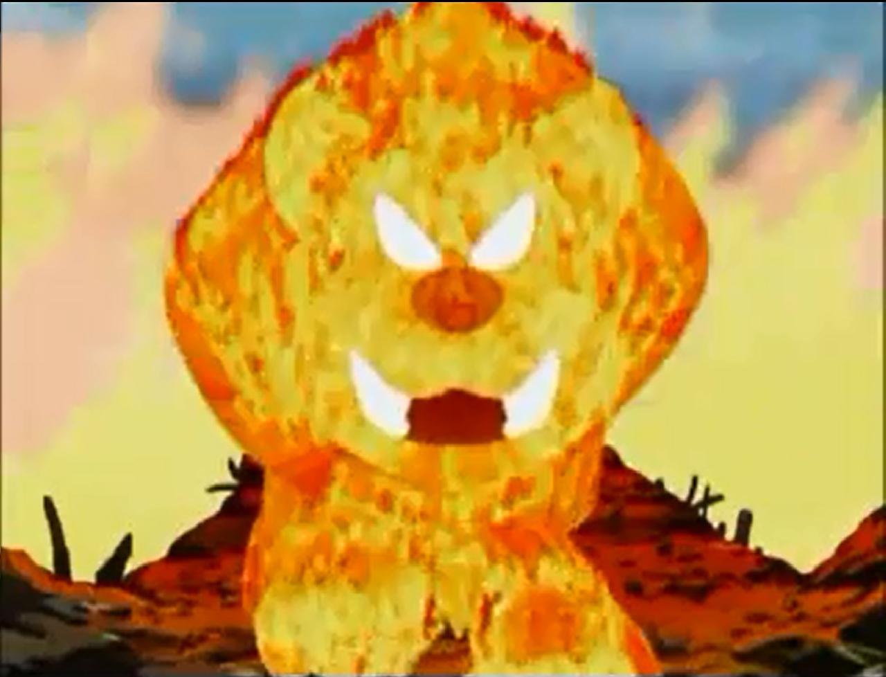 Kirby Right Back At Ya Fire Kirby Fire Lion - Kirby Wiki...