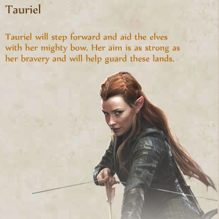 The Hobbit 3 Quotes About Love : Tauriel as a hero in The Hobbit: Armies of the Third Age