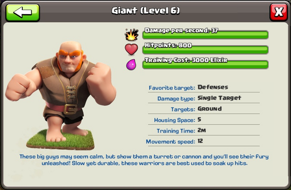 giants clash of clans