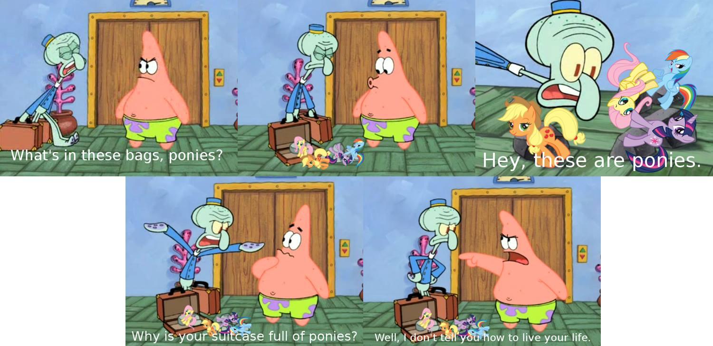 ... comic edit spongebob-squarepants bag squidward-tentacles patrick-star