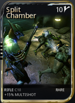 IMAGE(http://static2.wikia.nocookie.net/__cb20130929083826/warframe/images/thumb/f/f7/SplitChamberMod.png/150px-SplitChamberMod.png)