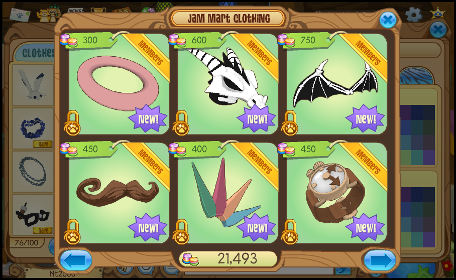 Jam mart clothing animal jam wiki - Animaljam wiki ...