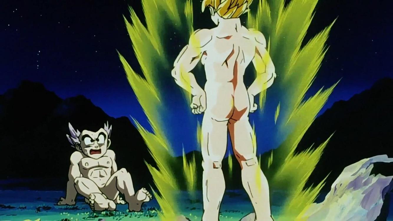 dragon ball goku naked