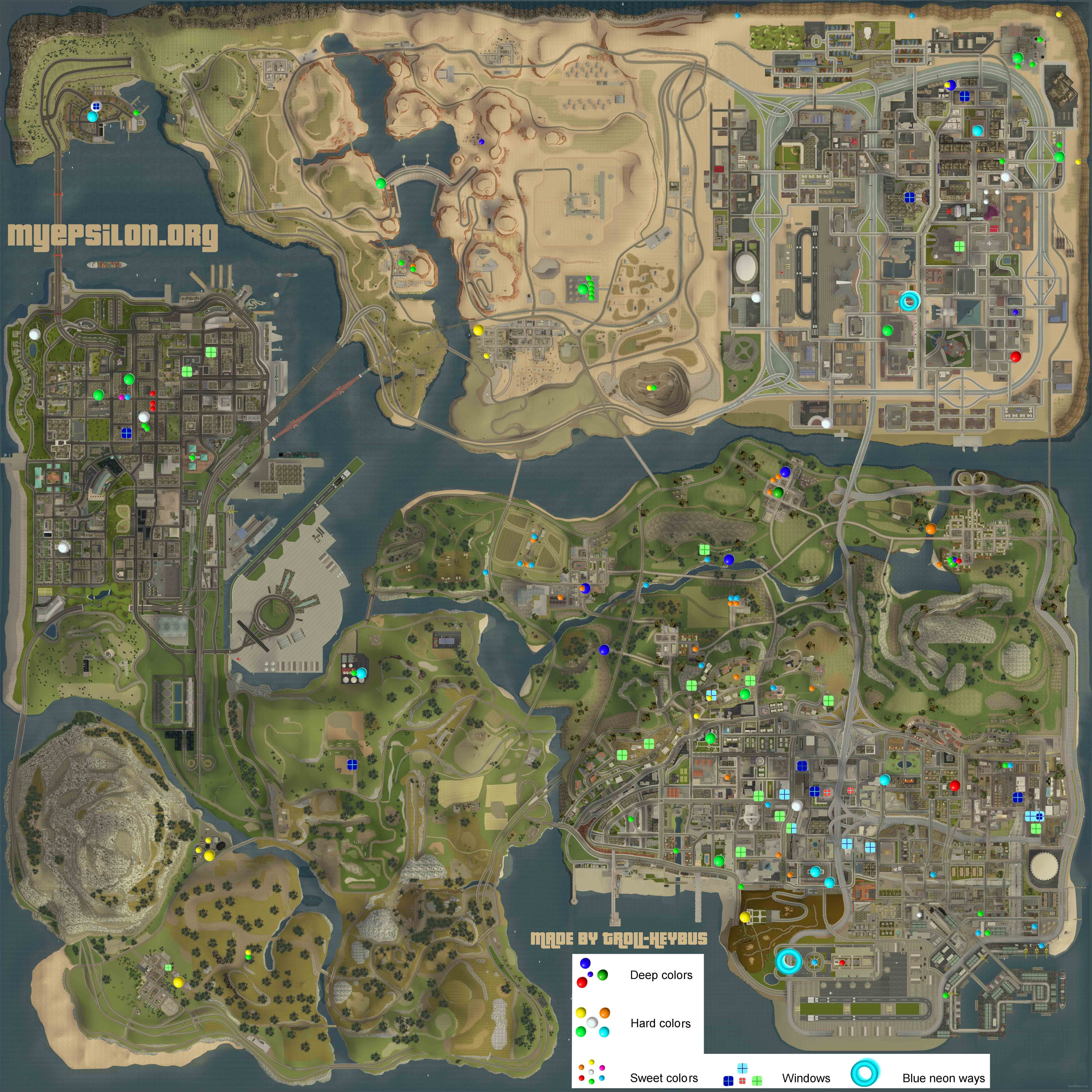 Map Sizes In Grand Theft Auto