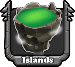 Each player's park is made up of individual Islands that provide land