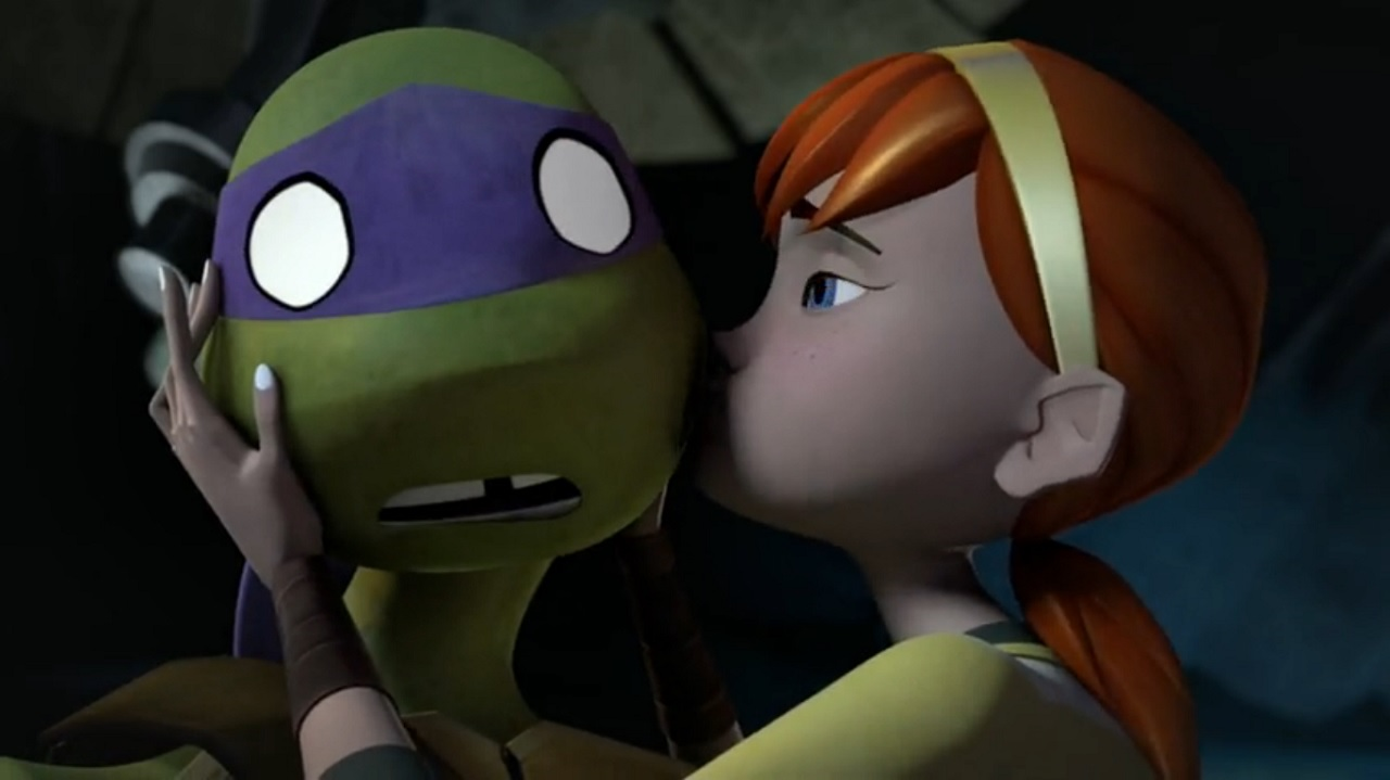 Image - April kisses Donnie.png - TMNT Wiki